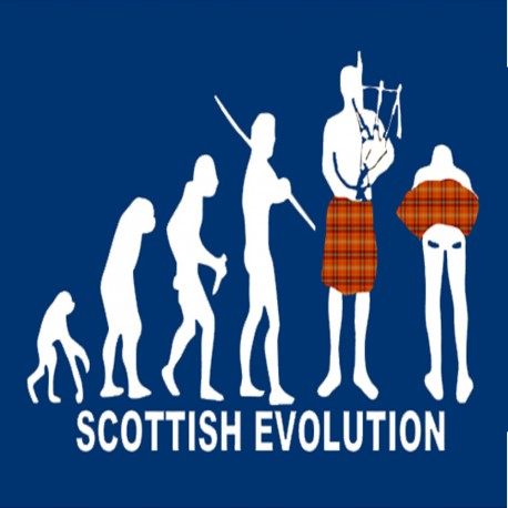 Scottish Evolution T Shirt | Edinburgh