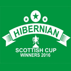 Hibs 2016 Scottish Cup Winners T Shirt 3 Stars