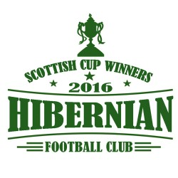 Hibs 2016 Scottish Cup Winners T Shirt