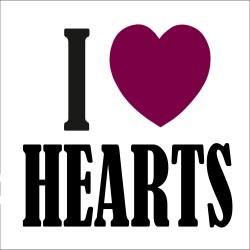 I Love HEARTS FC T Shirt
