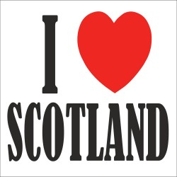 I Love SCOTLAND T Shirt