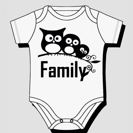 3 Owls Family Design Kids Body Suit