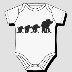 Elephants Kids Body Suit
