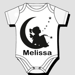 Girl Moon Stars Kids Body Suit