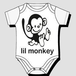 Cute Lil Monkey Kids Body Suit
